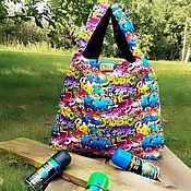 Сумки и аксессуары handmade. Livemaster - original item Bag: graffiti. Handmade.