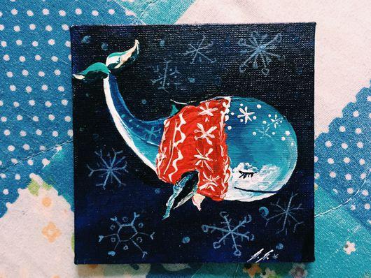 Животные ручной работы. Ярмарка Мастеров - ручная работа. Купить Кито. Handmade. Кит, синий кит, новый год 2016