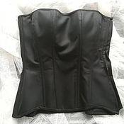 Одежда handmade. Livemaster - original item Corset/Bodice made of costume wool with a zipper. Handmade.