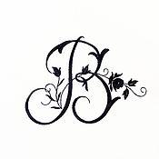 Подарки к праздникам handmade. Livemaster - original item Embroidery of Your monogram. Handmade.