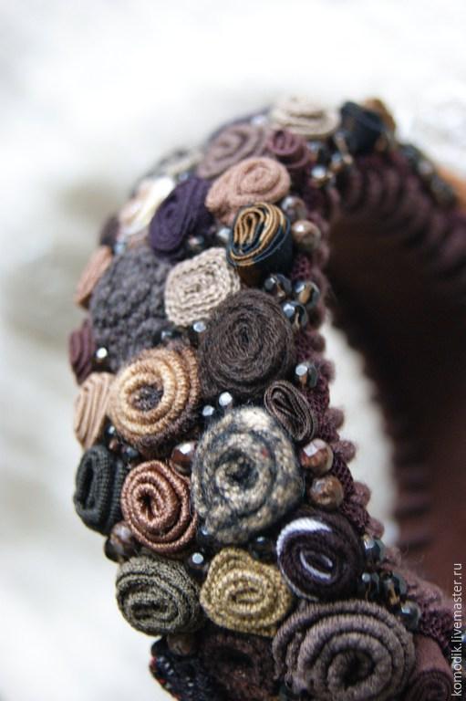 браслет `Темный шоколад` с дымчатым кварцем и яшмой