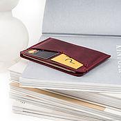 Канцелярские товары handmade. Livemaster - original item Leather holder for papers or passport card and passport cover. Handmade.