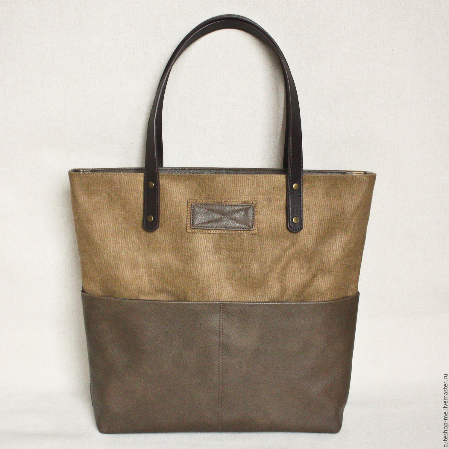 Handbags Handmade Livemaster Camel Color Bag Made Of Canvas And Eco