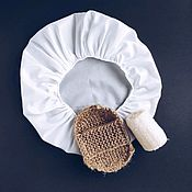 Маски ручной работы. Ярмарка Мастеров - ручная работа Шапочка для душа и масок для волос из водонепроницаемой ткани. Handmade.