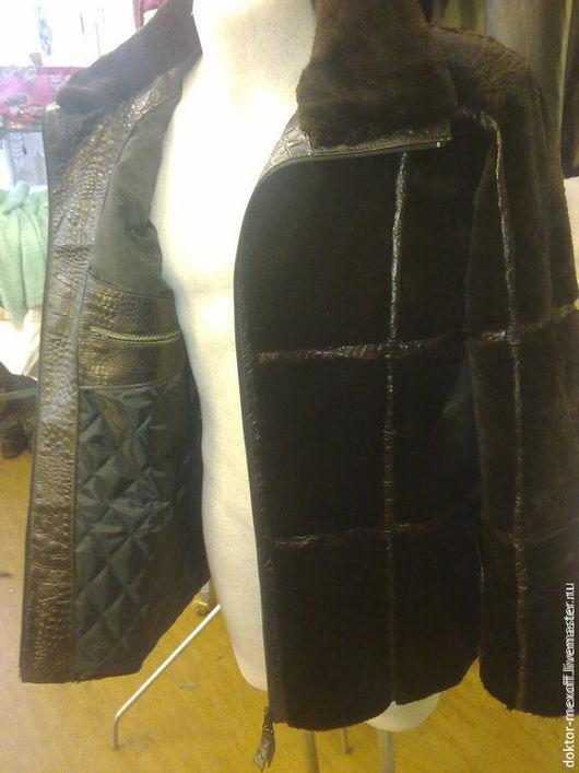 Верхняя одежда ручной работы. Ярмарка Мастеров - ручная работа. Купить Куртка мужская бобровая. Handmade. Коричневый, купить