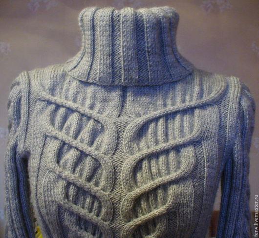 Кофты и свитера ручной работы. Ярмарка Мастеров - ручная работа. Купить Свитер с рельефным узором. Handmade. Свитер, свитер полушерстяной