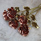 Цветы ручной работы. Ярмарка Мастеров - ручная работа Кованая роза (медь, латунь), модель №3. Handmade.