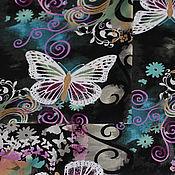 """Материалы для творчества ручной работы. Ярмарка Мастеров - ручная работа Ткань для пэчворка """"Диковинные бабочки"""". Handmade."""