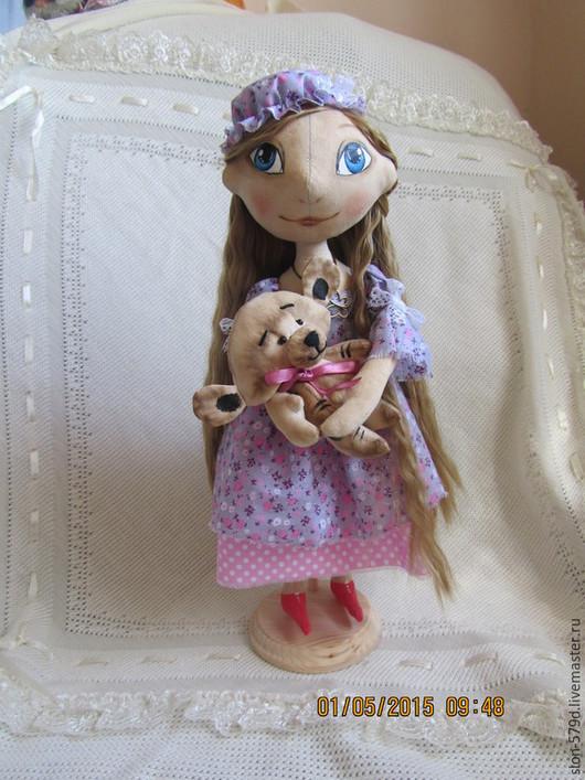 Куклы тыквоголовки ручной работы. Ярмарка Мастеров - ручная работа. Купить кукла Лиза. Handmade. Бледно-сиреневый, кукла интерьерная