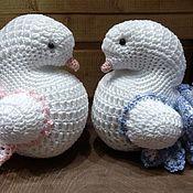 Куклы и игрушки ручной работы. Ярмарка Мастеров - ручная работа Свадебные голуби. Handmade.