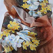 Аксессуары ручной работы. Ярмарка Мастеров - ручная работа шарф Первые цветы. Handmade.