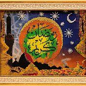 Картины и панно handmade. Livemaster - original item Shamail embroidery with beads. Handmade.
