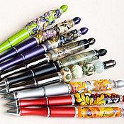 Канцелярские товары handmade. Livemaster - original item Pen writing ball lampwork bright business gift. Handmade.
