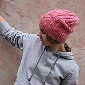 Аксессуары ручной работы. Ярмарка Мастеров - ручная работа Вязаная шапка Розовый кварц, купить теплую шапку. Handmade.