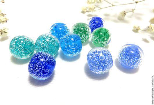 Для украшений ручной работы. Ярмарка Мастеров - ручная работа. Купить Бусины с пузыриками. Handmade. Комбинированный, бусина, стеклянные бусины
