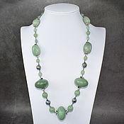 Украшения handmade. Livemaster - original item Stunning long necklace natural aventurine. Handmade.