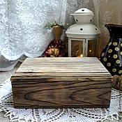 Для дома и интерьера ручной работы. Ярмарка Мастеров - ручная работа Шкатулка Старое дерево. Handmade.