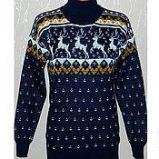 Одежда handmade. Livemaster - original item Sweater with deers knitted. Handmade.