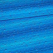 """Ткани ручной работы. Ярмарка Мастеров - ручная работа Хлопок """"Под водой"""" (синий). Handmade."""