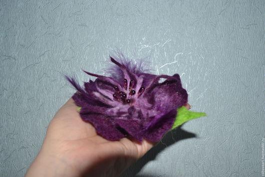 Комплекты аксессуаров ручной работы. Ярмарка Мастеров - ручная работа. Купить Брошь из шерсти.........Фиолетовое настроение... Handmade. Тёмно-фиолетовый