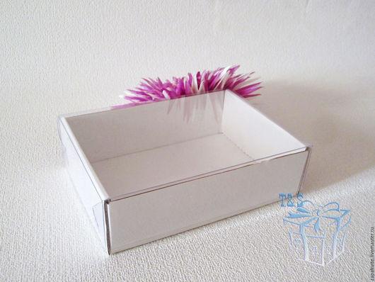 Упаковка ручной работы. Ярмарка Мастеров - ручная работа. Купить Коробка, 155х110х45 мм, с прозрачной крышкой, мгк, белый, крафт. Handmade.
