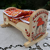 Куклы и игрушки ручной работы. Ярмарка Мастеров - ручная работа Кроватка для куколки. Handmade.
