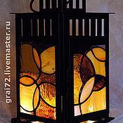 """Для дома и интерьера ручной работы. Ярмарка Мастеров - ручная работа Витражный фонарь """" Кружение  """". Handmade."""