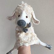 Куклы и игрушки handmade. Livemaster - original item White sheep with bells. Glove puppet.. Handmade.