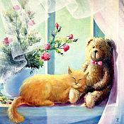 Картины и панно ручной работы. Ярмарка Мастеров - ручная работа Рыжий кот. Handmade.