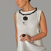 Украшения handmade. Livemaster - original item Porcelain necklaces,