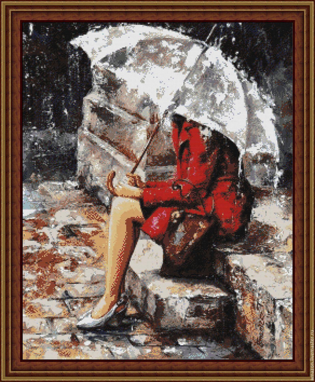 Под зонтом вышивка купить