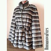 Одежда ручной работы. Ярмарка Мастеров - ручная работа Шубка-шиншилла трапеция с широким рукавом+пояс. Handmade.