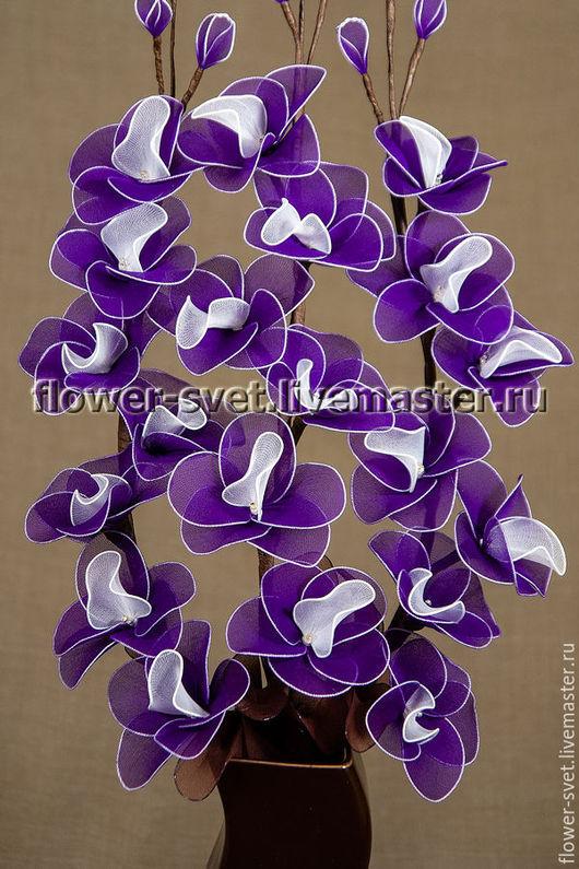 Персональные подарки ручной работы. Ярмарка Мастеров - ручная работа. Купить Букет-светильник Орхидея Фиолет. Handmade. Цветы