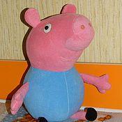 Куклы и игрушки ручной работы. Ярмарка Мастеров - ручная работа Поросенок Джордж ( свинка Пеппа). Handmade.