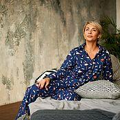Одежда handmade. Livemaster - original item Home costume-flannel pajamas