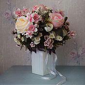 Букеты ручной работы. Ярмарка Мастеров - ручная работа Букет из камелий , кустовых роз. Handmade.