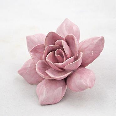Для дома и интерьера ручной работы. Ярмарка Мастеров - ручная работа Гардении - керамические цветы для интерьера. Handmade.