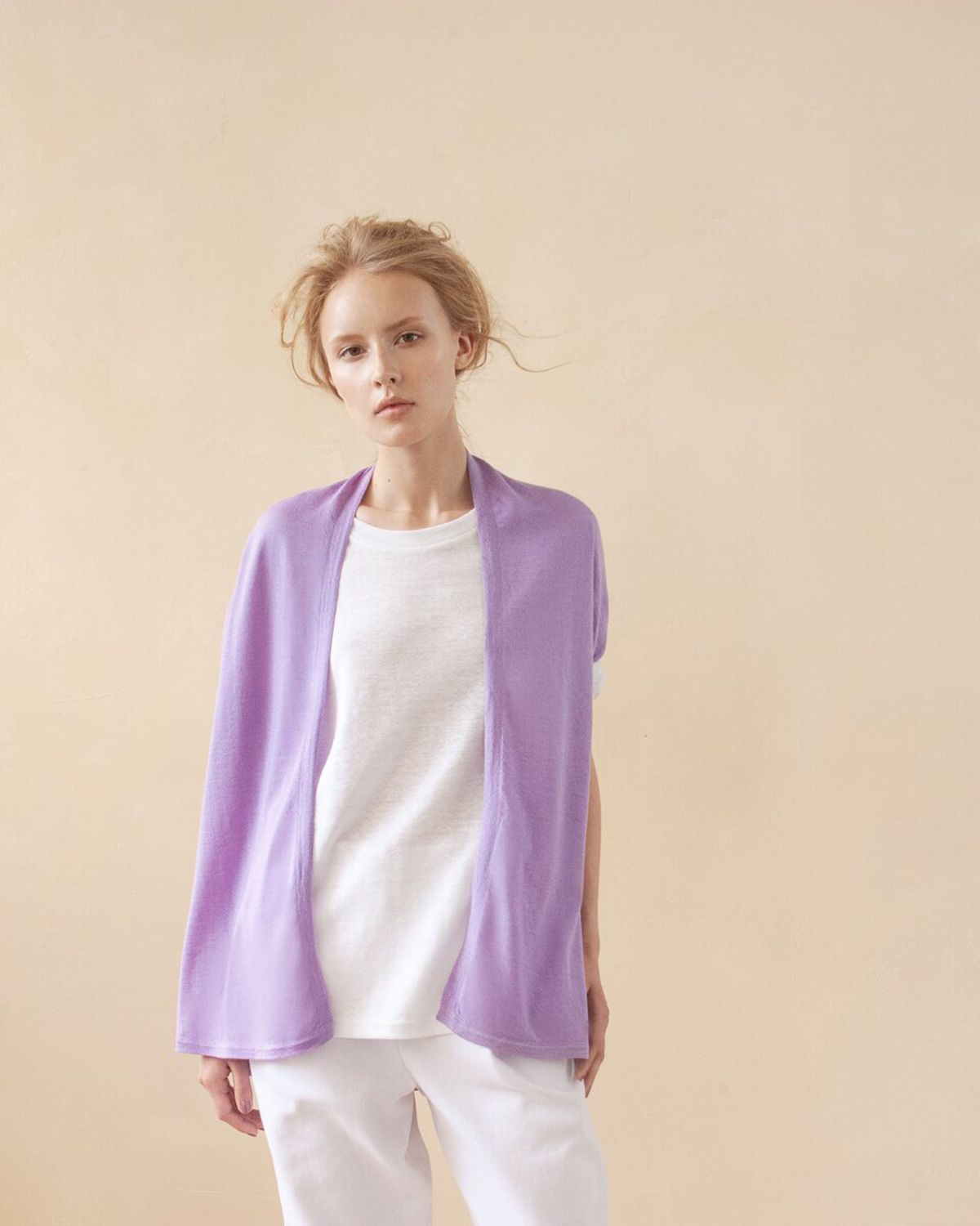 Violet cashmere cardigan, Cardigans, Moscow,  Фото №1
