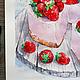 Натюрморт ручной работы. Клубничное суфле. K&ART. Ярмарка Мастеров. Пироженное, k-art, столовая, акварельная бумага