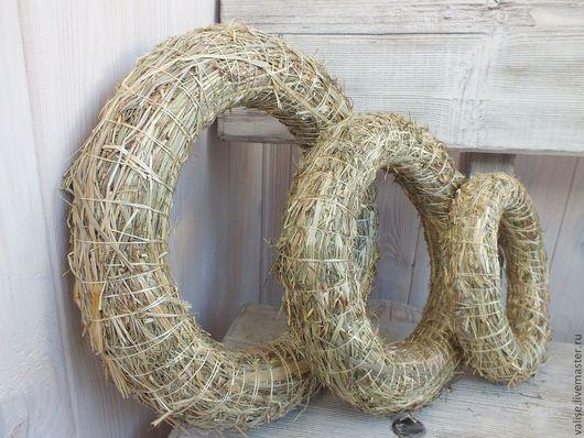 """Другие виды рукоделия ручной работы. Ярмарка Мастеров - ручная работа. Купить Основа для декорирования """"Венок"""" (сено) 20 см, 25 см, 30 см, 35 см. Handmade."""