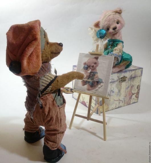 Мишки Тедди ручной работы. Ярмарка Мастеров - ручная работа. Купить мишка тедди художник. Handmade. Мишка ручной работы