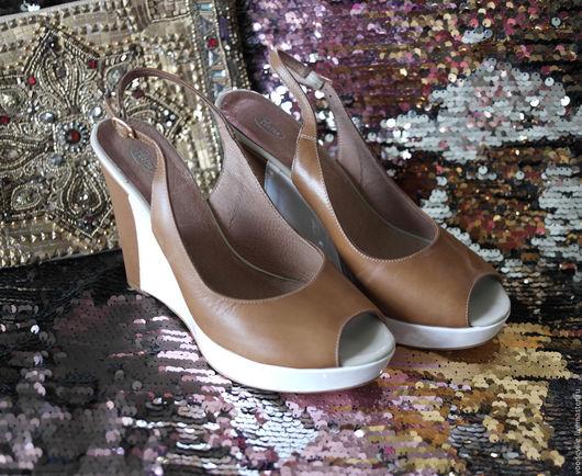 Винтажная обувь. Ярмарка Мастеров - ручная работа. Купить Босоножки на платформе. Handmade. Коричневый, кожа