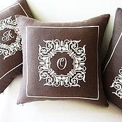 Для дома и интерьера handmade. Livemaster - original item Pillow interior with embroidered