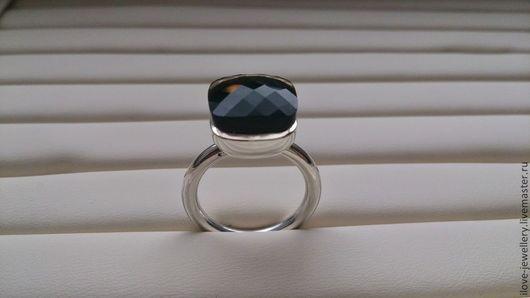 """Кольца ручной работы. Ярмарка Мастеров - ручная работа. Купить """"Стиль""""-эффектное кольцо с натуральным раухтопазом. Handmade. Коричневый"""