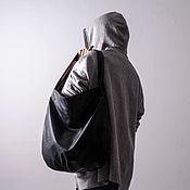 Классическая сумка ручной работы. Ярмарка Мастеров - ручная работа Чёрная женская сумка из экокожи Hobo сумка шоппер. Handmade.