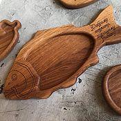 Тарелки ручной работы. Ярмарка Мастеров - ручная работа Тарелка деревянная Рыба. Handmade.