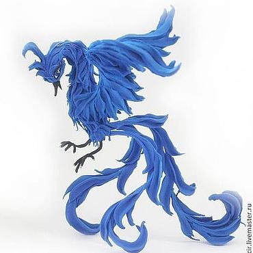 """Для дома и интерьера ручной работы. Ярмарка Мастеров - ручная работа Фигурка """"Синяя птица счастья"""" (жарптица, синий). Handmade."""
