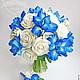 Свадебные цветы ручной работы. Ярмарка Мастеров - ручная работа. Купить Букет невесты с ирисами полимерной глины. Handmade.