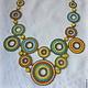 Разноцветное колье из бисера. Летний калейдоскоп. Авторская работа Ульяны Молдовян. Модное летнее колье.