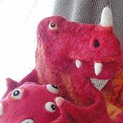 Stuffed Toys handmade. Livemaster - original item Warmer toy Dinosaur. Handmade.